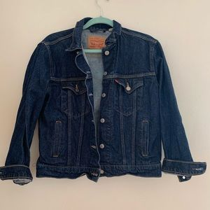 Levi's Ex Boyfriend Trucker Jacket Sports Logo S
